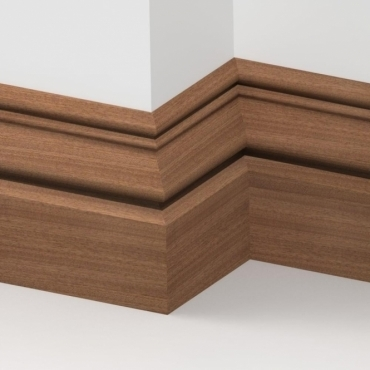 Solid Sapele Buckingham Skirting 3 metre