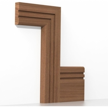Solid Sapele Bullnose Double Edge Architrave Sets