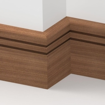 Solid Sapele Bullnose Double Edge Skirting 3 metre