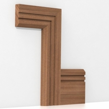 Solid Sapele Chamfered Double Edge Architrave Sets