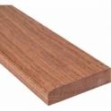 Solid Sapele Flat Edge Door Threshold 160mm Wide