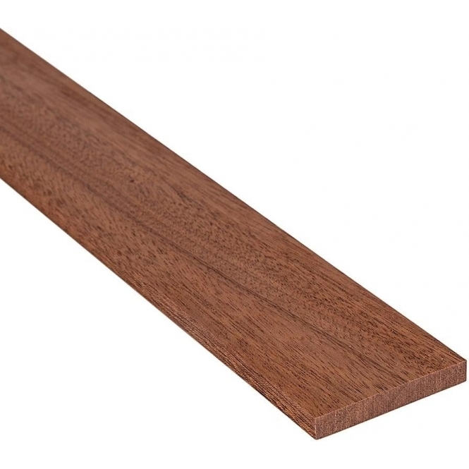 Solid Sapele Flat Square Edge Beading Strip 120MM x 7MM
