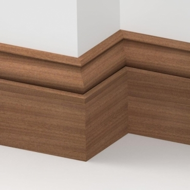 Solid Sapele Ogee Skirting 3 metre