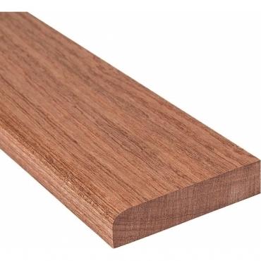 Sapele Solid Flat Edge Door Threshold 44mm Wide