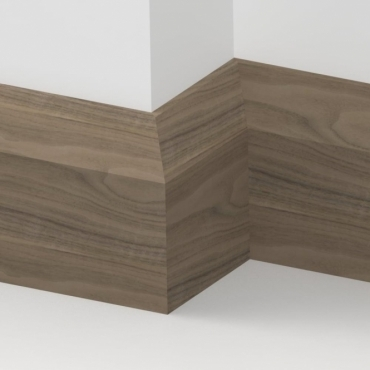 Solid Walnut Bevel Skirting 3 metre