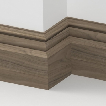 Solid Walnut Bromley Skirting 3 metre