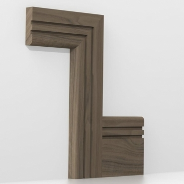 Solid Walnut Bullnose Double Edge Architrave Sets