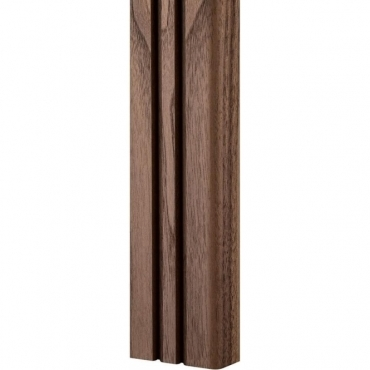 Solid Walnut Bullnose Double Edge Panelling 3 Metre