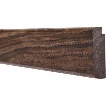 Solid Walnut Bullnose Picture Rail 3 Metre