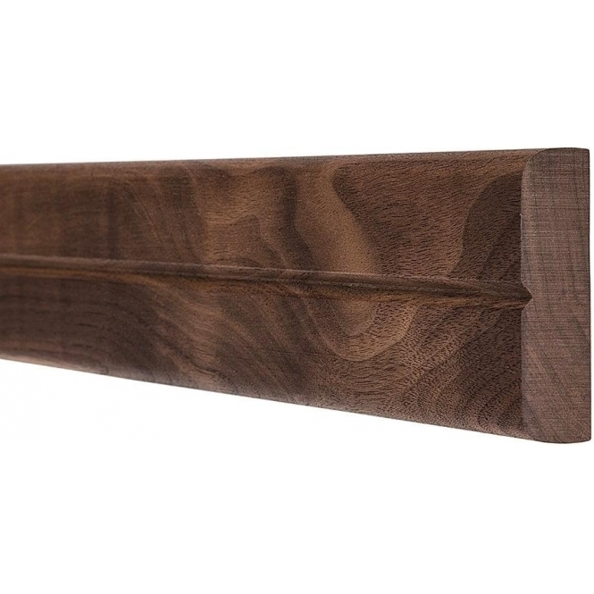 Solid Walnut Bullnose Single Groove Dado Rail 3 Metre