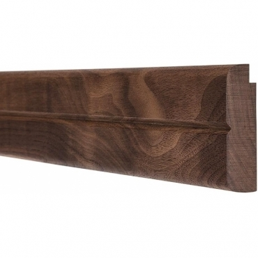 Solid Walnut Bullnose Single Groove Picture Rail 3 Metre
