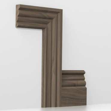 Solid Walnut Canterbury Architrave Sets