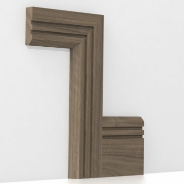 Solid Walnut Chamfered Double Edge Architrave Sets