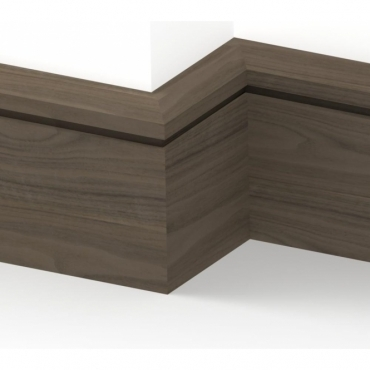 Solid Walnut Chamfered Single Edge Skirting 3 metre
