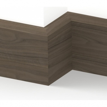 Solid Walnut Chamfered Skirting 3 metre