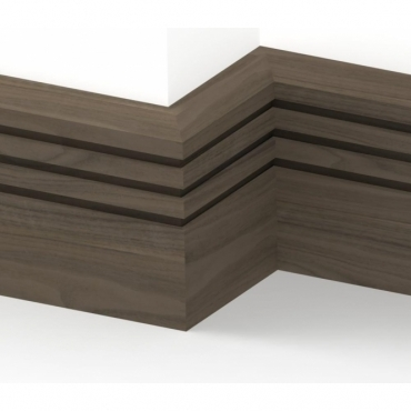 Solid Walnut Chamfered Triple Edge Skirting 3 metre