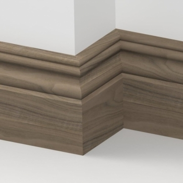 Solid Walnut  Cromwell Skirting 3 metre