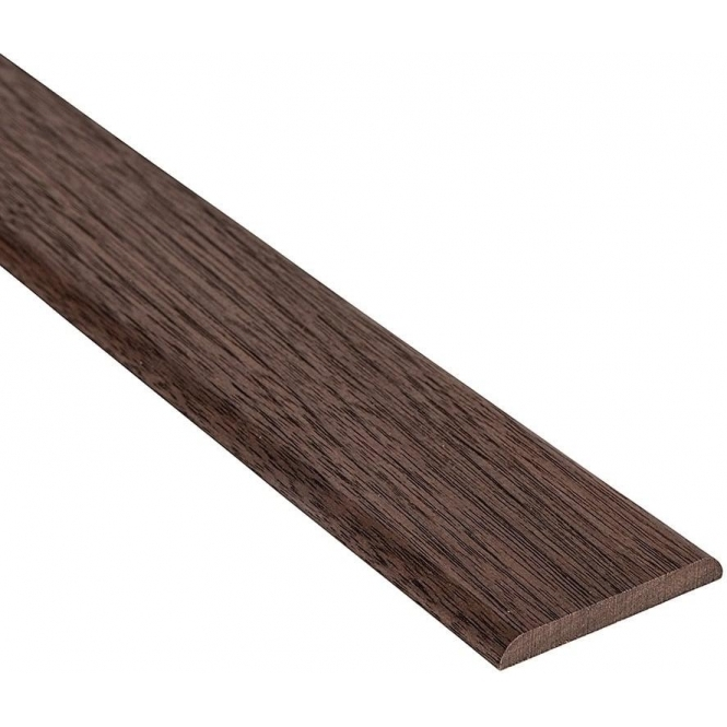 Solid Walnut Flat Cover Beading Threshold Strip 20MM x 5MM