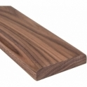 Solid Walnut Flat Door Threshold 95mm Wide