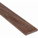 Solid Walnut Flat Square Edge Beading Strip 160MM x 7MM