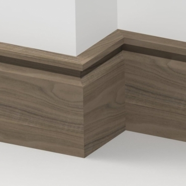 Solid Walnut Flute Skirting 3 metre