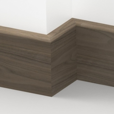 Solid Walnut Pencil Round Skirting 3 metre