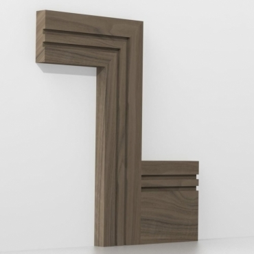 Solid Walnut Square Double Edge Architrave Sets