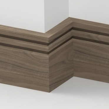 Solid Walnut Wells Skirting 3 metre
